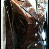 Куртка -пиджак нат. кожа, лак. Фото 3. Волгоград.