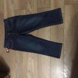 Новые джинсовые утеплённые капри. Фото 3.