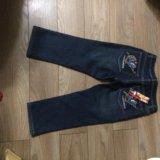 Новые джинсовые утеплённые капри. Фото 1.