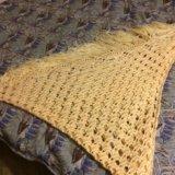 Палантин платок вязаный шерсть. Фото 2.