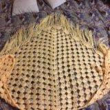 Палантин платок вязаный шерсть. Фото 1.