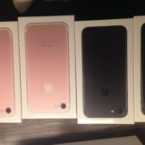 Продам новый айфон 7 цвет чёрный и розовый. Фото 1. Москва.