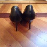 Туфли черные кожаные 36 размер. Фото 2.