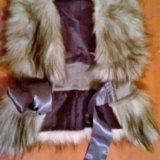 Детская одежда жилетка меховая. Фото 2.