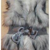 Детская одежда жилетка меховая. Фото 3.