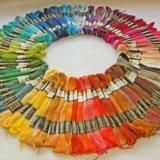 Нитки мулине радуга для вышивания. Фото 1.
