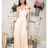 Вечернее длинное золотое платье. Фото 1. Глебовский.