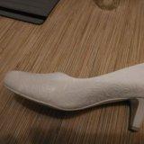Туфли свадебные р.38. Фото 2.