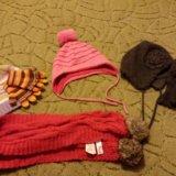 Пакет детских шапочек, шарфа,перчаток.. Фото 1. Уфа.