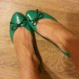 Продам балетки из натуральной кожи змии. Фото 2.