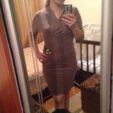 Красивое платье цвета капучино. Фото 1.