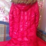 Куртка утеплённая длинная с мехом reserved. Фото 1. Санкт-Петербург.