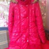 Куртка утеплённая длинная с мехом reserved. Фото 2. Санкт-Петербург.