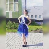 Синее платье (выпускное). Фото 1.