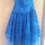 Синее платье (выпускное). Фото 2.