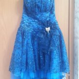 Синее платье (выпускное). Фото 3.