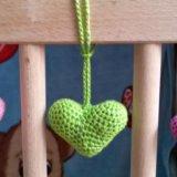 Вязанные сердечки. Фото 2.