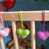 Вязанные сердечки. Фото 3.