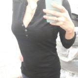 Черная блуза 42-44. Фото 1.