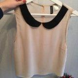 Блуза без рукавов  hm. Фото 1.