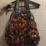 Большая яркая сумка. натуральная кожа. Фото 1.