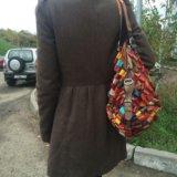Большая яркая сумка. натуральная кожа. Фото 2.