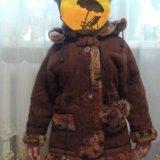 Детская дубленка натуральная+шапка в наборе в пода. Фото 2. Белгород.