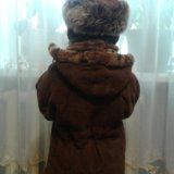Детская дубленка натуральная+шапка в наборе в пода. Фото 3. Белгород.