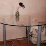 Стол круглый стеклянный. Фото 2. Москва.