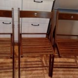 Икеа(ikea) стул складной, коричневый. терье. 3 шт. Фото 3.
