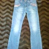 Бронь!джинсы на девочку рост: 110-116. Фото 1. Москва.