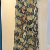 Атласное платье с поясом. Фото 2.