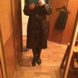 Пальто женское кожаное. Фото 2.