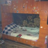Кровать двухъярусная ,светлое дерево,с мотрасами,. Фото 1.