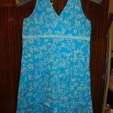 Голубое платье-туника. Фото 1. Мытищи.