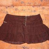 Велюровая юбка с рюшами. Фото 1. Мытищи.