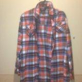 Рубашка в клетку оранжевая. Фото 1. Красногорск.