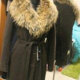 Зимнее пальто с шикарным натуральным мехом новое. Фото 1.