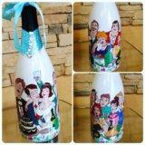 Росписи бутылок. Фото 2. Армавир.