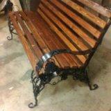 Стол скамейки кованые. Фото 3.