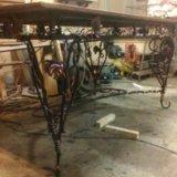 Стол скамейки кованые. Фото 4.