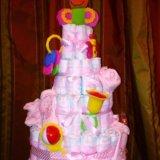 Торт из подгузников. Фото 3.