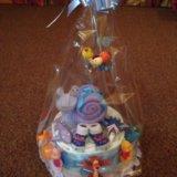 Торт из подгузников. Фото 4.