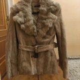 Утеплённая замшевая куртка. Фото 1.