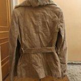 Утеплённая замшевая куртка. Фото 2.