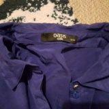 Сине фиолетовая синяя блузка рубашка oasis. Фото 3.