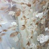 Тюль новый (органза печать бежево-коричнев. цветы). Фото 1. Нижний Новгород.