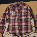 Рубашка клетчатая h&m. Фото 1.