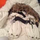 Нарядная куртка с воротником лисы обен можно. Фото 1. Москва.