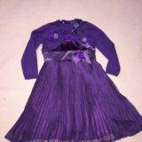Комплект нарядный платье и болеро ф.de salitto 110. Фото 1.
